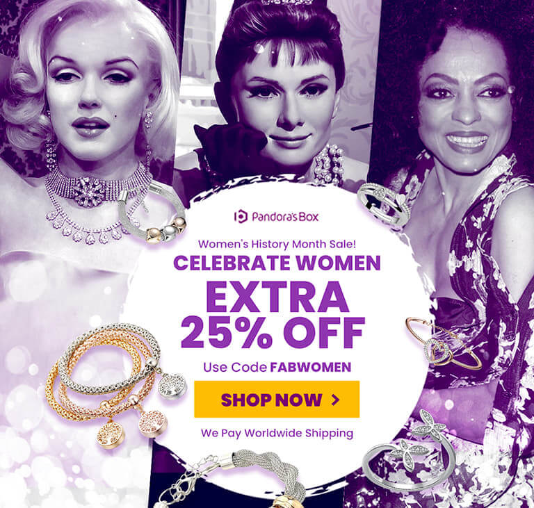 25% off storewide in celebration of women's history month