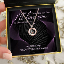 "Load image into Gallery viewer, ""To Remind You"" Hidden Love Languages Necklace Gift Set"