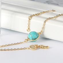 Load image into Gallery viewer, Golden Strand Turquoise Bracelet
