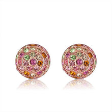 Load image into Gallery viewer, 2 Sets of Tropic Crystal Stud Earrings