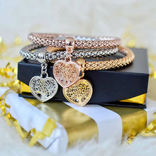 "Load image into Gallery viewer, 2 Sets of Ultimate Gift Wrap - ""Tree of Life"" Heart Edition Charm Bracelets"
