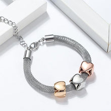 Load image into Gallery viewer, Heart Cube Charms Bracelet