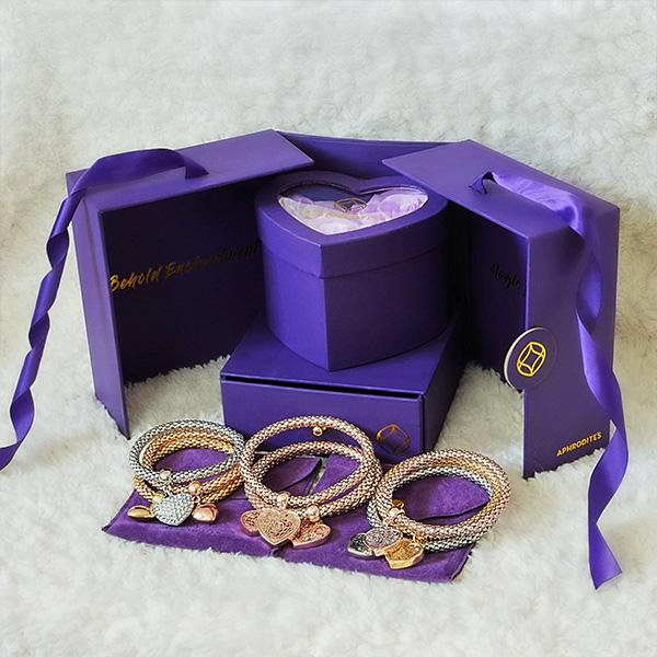 2 Sets of Enchantment Gift Box - Glam Trio Jewelry Set