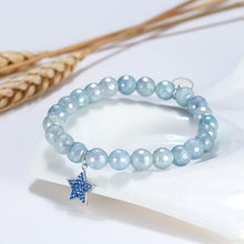 Load image into Gallery viewer, Mystic Blue Star Beaded Charm Bracelet