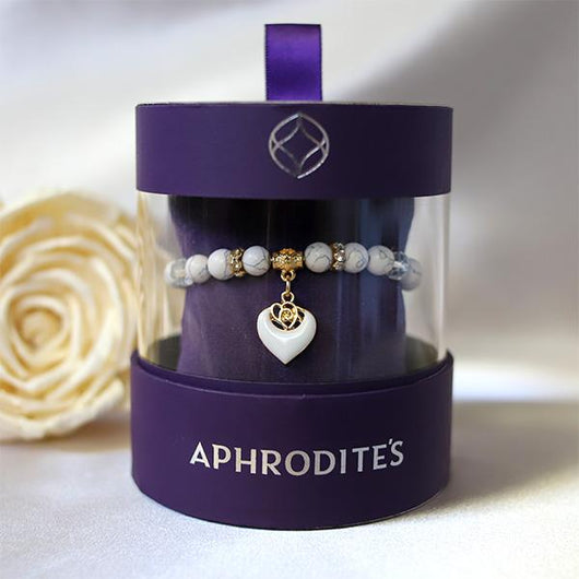 3 Sets of Aphrodites Window Box  - White Rose Beaded Bracelet