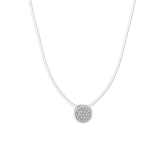 Spellbound Pave Disc Necklace