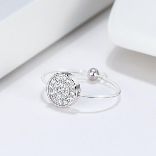 Spellbound Pave Disc Ring