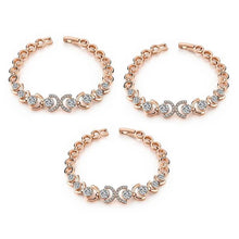 Load image into Gallery viewer, 3 Sets of Rose Gold and Ice Bracelet