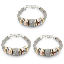 Load image into Gallery viewer, 3 Sets of Entwined Silver Metal Bracelet Bundle Offer