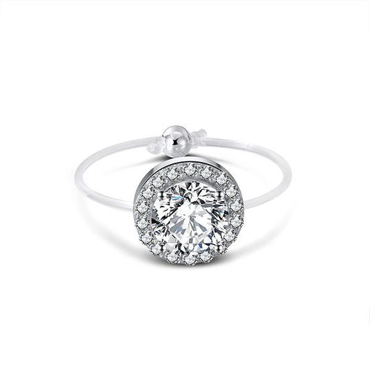 Spellbound Solitaire Halo Ring