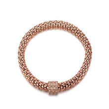 Load image into Gallery viewer, Glitz and Glam Rose Gold Pave Spacer Bracelet