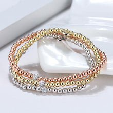 Load image into Gallery viewer, Glitz and Glam Pave Stackable Beaded Bracelet - Small