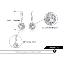 Load image into Gallery viewer, Classique Sterling Silver Halo Vintage Drop Earrings