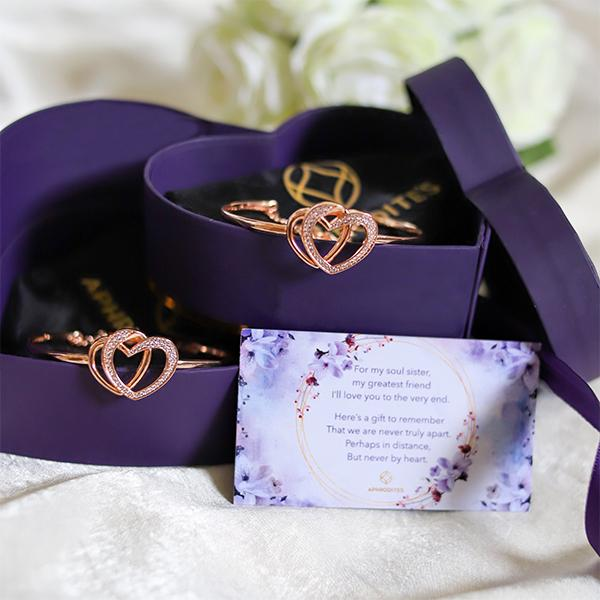 Heart To Heart Gift Box - Twin Hearts Bracelets