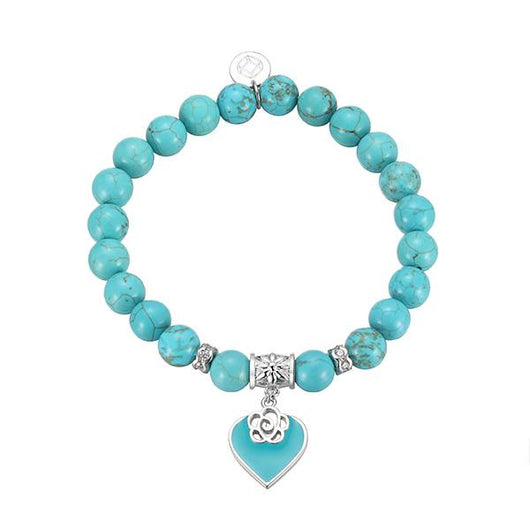 2 Sets of Turquoise Heart Beaded Bracelet