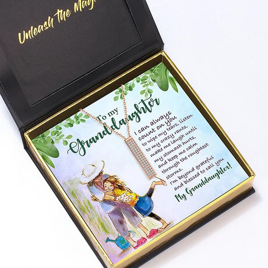 """To My Granddaughter"" I Love You Secret Sentiments Necklace Pendant"