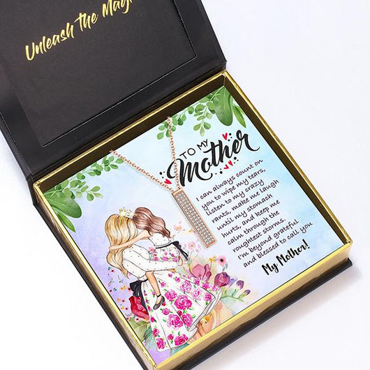 """To My Mother"" I Love You Secret Sentiments Necklace Pendant"