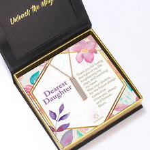 "Load image into Gallery viewer, ""Dearest Daughter"" I Love You Secret Sentiments Necklace Pendant"