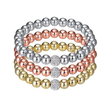 Load image into Gallery viewer, Glitz and Glam Pave Stackable Beaded Bracelet - Large