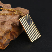 Load image into Gallery viewer, American Tribute Dog Tag (Fallen Soldier Tribute Necklace)