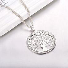 "Load image into Gallery viewer, ""Tree of Life"" Pendant Necklace with Rhinestones & Crystals"