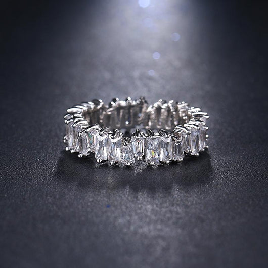 Baguette Crystal Ring