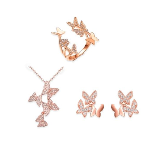 """Free Spirit"" Rose Gold Butterfly Bundle"