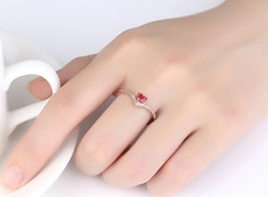 Bright Heart Adjustable Ring