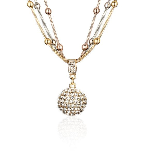 Gold Ball Pendant Necklace