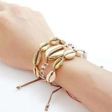 Load image into Gallery viewer, GOLDEN SEASHELLS BRACELETS STACK