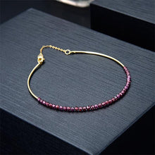 Load image into Gallery viewer, Garnet Bangle Bracelet