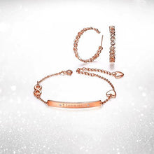Load image into Gallery viewer, Infinite Love Bracelet and Earrings Set