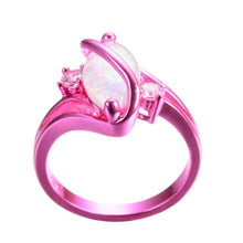 Load image into Gallery viewer, White Fire Opal Ring - Pink
