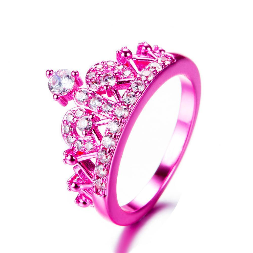 Pink Princess Crown Ring - Pandoras Box Inc