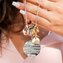 "Load image into Gallery viewer, ""Love"" Crystal Tag Necklace"