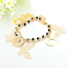 Load image into Gallery viewer, Butterfly Charm Double Strand Bracelet