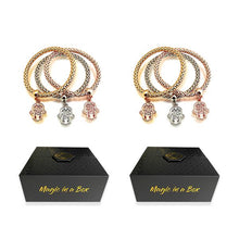 Load image into Gallery viewer, Magic in a Box - 2 Tree of Life Hamsa Edition Charm Bracelets Gift Set