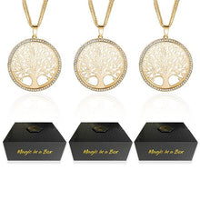 Load image into Gallery viewer, Magic in a Box - 3 Tree of Life Pendant Necklace Gift Set