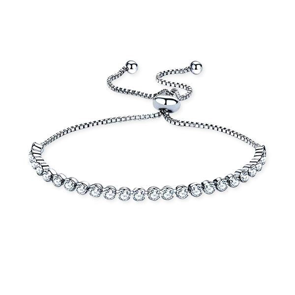 Rhinestone Adjustable Tennis Bracelet