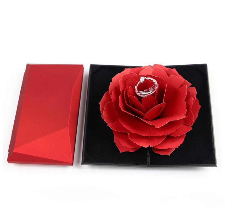 Red Rose Pop-Up Ring Box