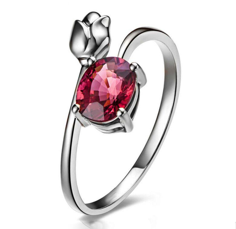 Rose Bud Red Crystal Ring