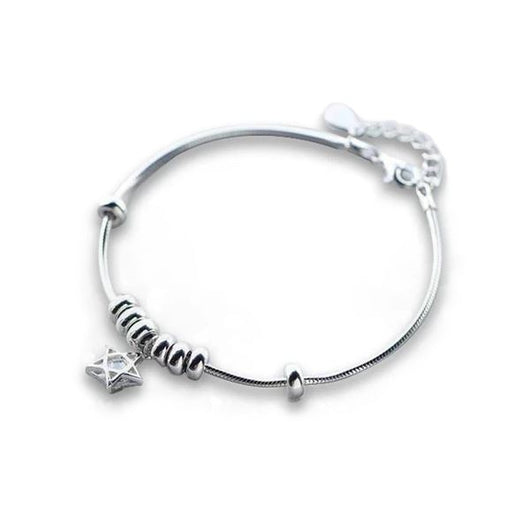 1 Sets of Shooting Star Sterling Silver Bracelet & Ring