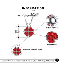 Load image into Gallery viewer, 3 Sets of Magnetic Hearts Clover Necklace
