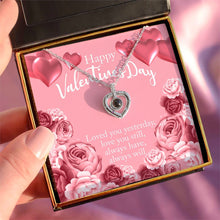"Load image into Gallery viewer, ""Happy Valentine's Day"" Hidden Love Languages (Heart Edition) Necklace Gift Set"