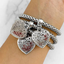 Load image into Gallery viewer, Silver Rose Charm Bracelets