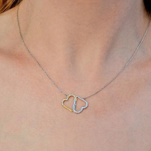 To My Badass Girlfriend Joined Hearts Necklace