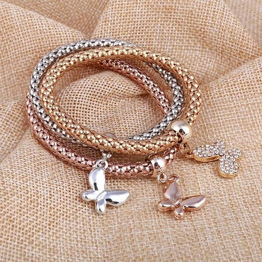 2 Sets of Solid Butterfly Charms Bundle