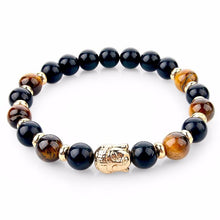 Load image into Gallery viewer, Natural Stone Buddha Bracelet