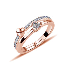 Load image into Gallery viewer, Twin Hearts Adjustable Ring
