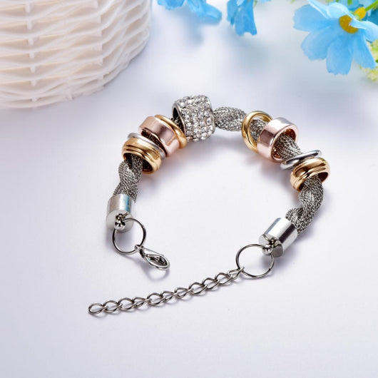 Magic in a Box - 2 Entwined Silver Metal Bracelet Gift Set